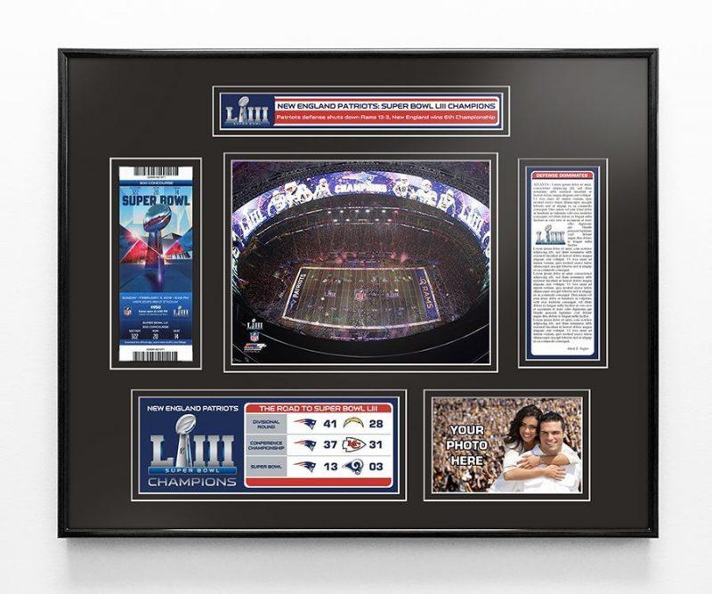 Super Bowl LIII (53) Champions Ticket Frame
