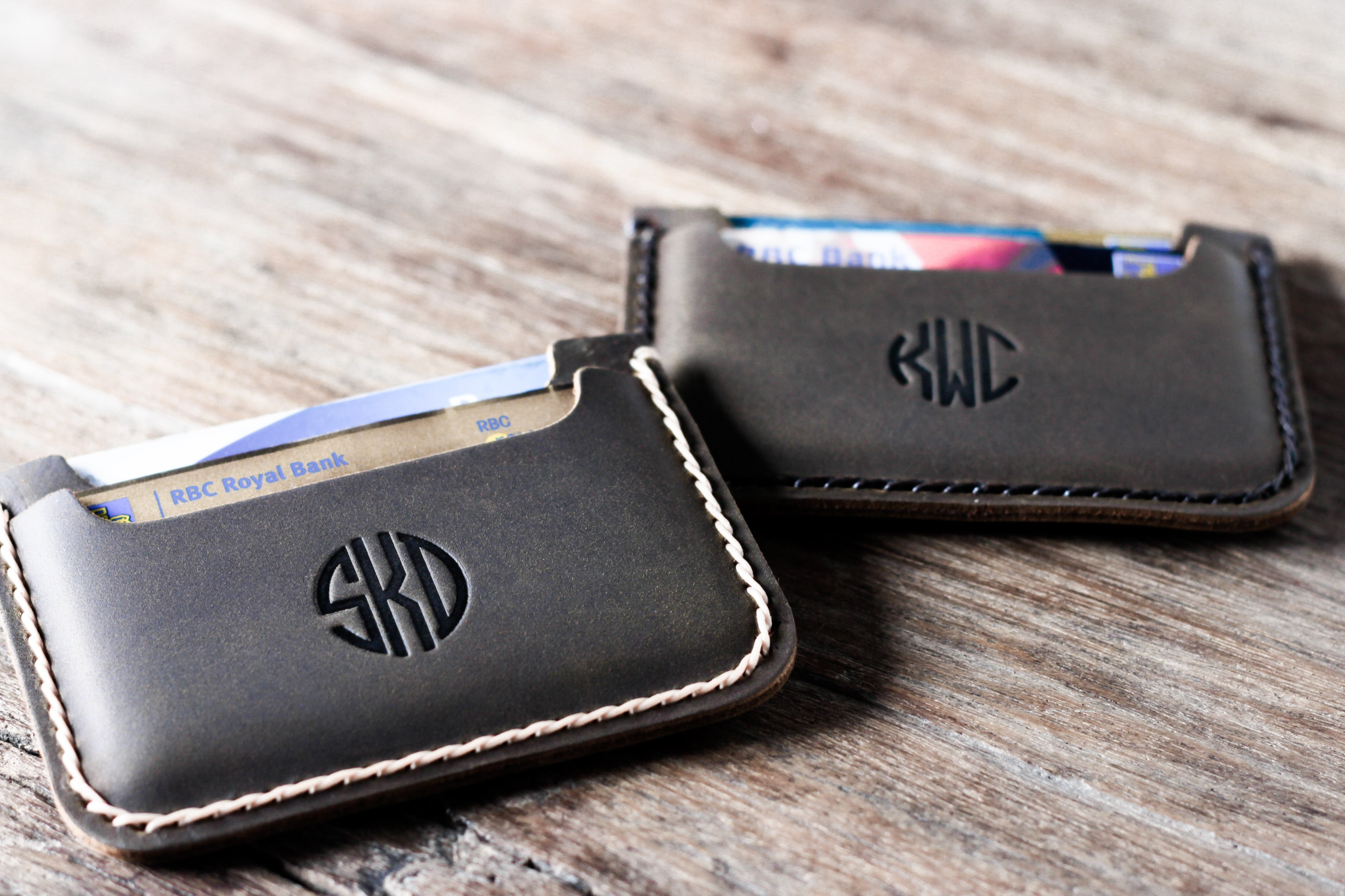 front pocket wallet with monogram