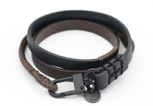 Caputo & Co. Hand-Knotted Triple Wrap Bracelet