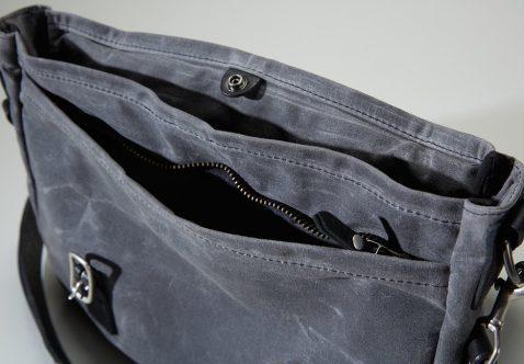 Coronado Leather Bison Redwood Messenger Bag
