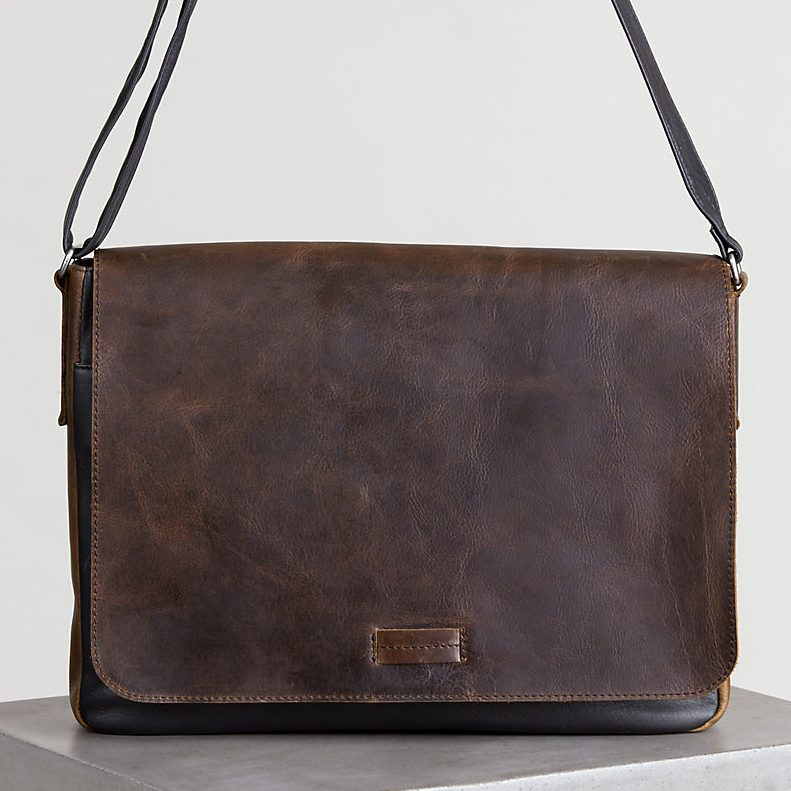 Overland Malachi Distressed Argentine Leather Messenger Bag