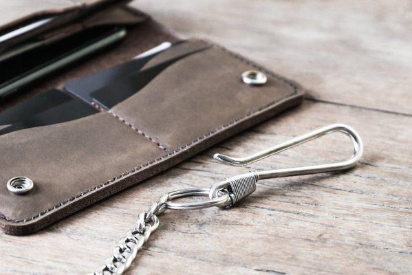 Long Leather Biker wallet