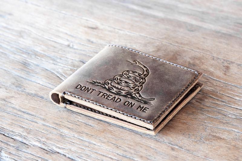 Don't Tread on Me Gadsden Flag Wallet
